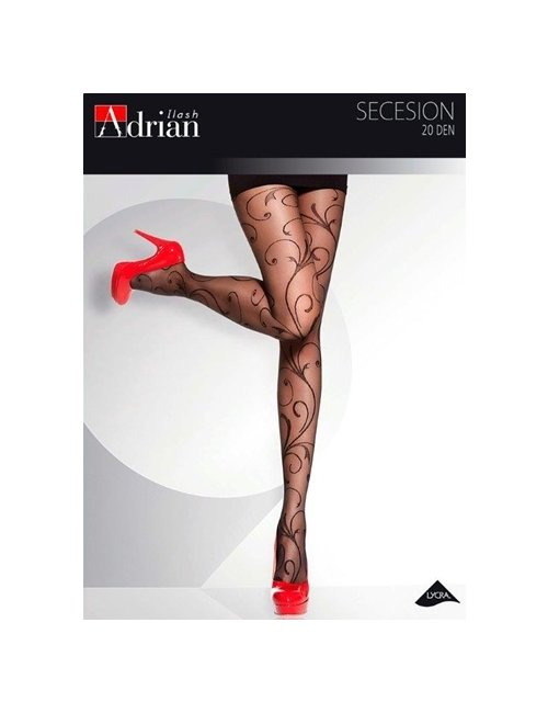 Női mintás harisnya SECESSION 20DEN Adrian