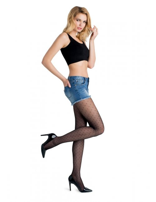 Női pöttyös harisnya FLORES 716 20DEN Marilyn