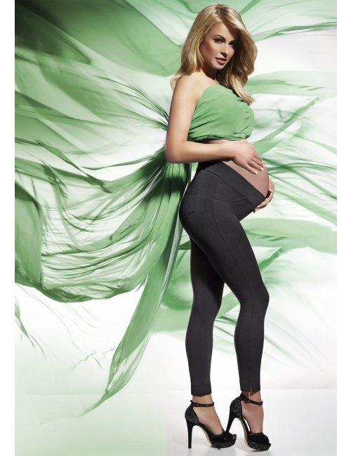 Tehotenské legíny LAURA 200DEN BasBleu